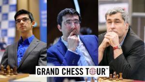 Miniatura de Giri, Kramnik e Ivanchuk dentro del Grand Chess Tour