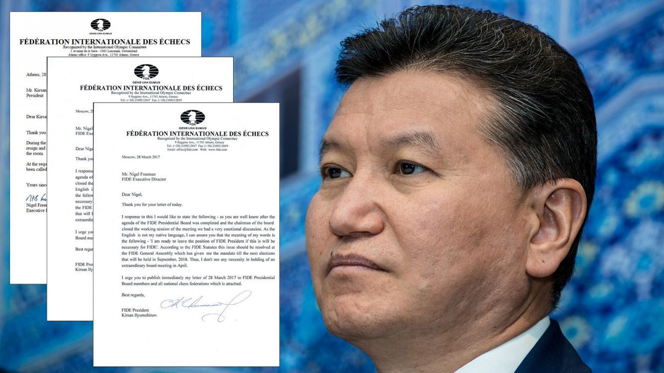 It Continues: FIDE Won't Budge, Ilyumzhinov Won't Resign