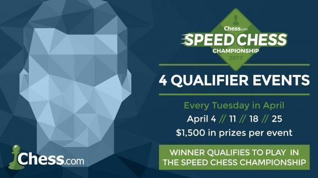 Em Abril, 4 Jogadores Qualificam-se Para o  Campeonato de Rápidas de Xadrez