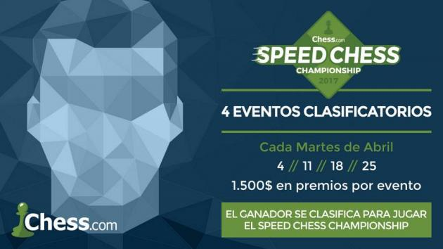 4 clasificatorios para el Speed Chess Championship