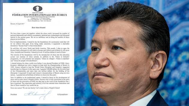 Ao Mesmo Tempo Que o Apoio Diminui, Ilyumzhinov Anuncia Um Investimento de 30 Milhões de Dolares