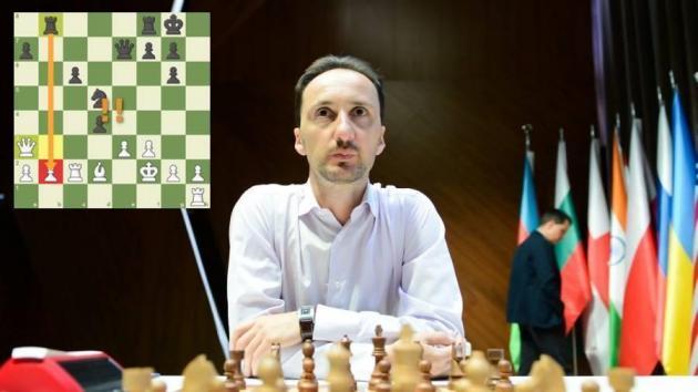 Топалов выигрывает блестящую партию в Шамкире