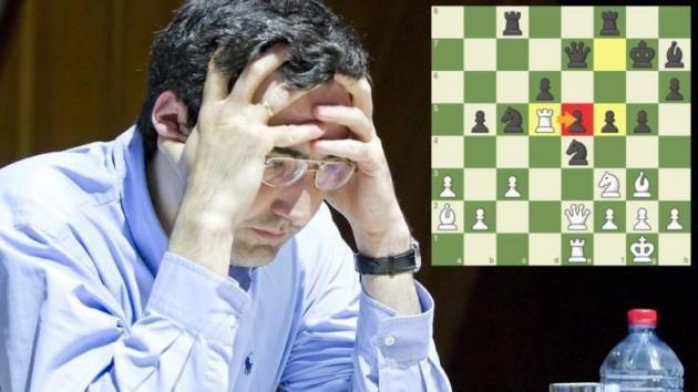 Kramnik vant med fantastisk tårnoffer i Shamkir