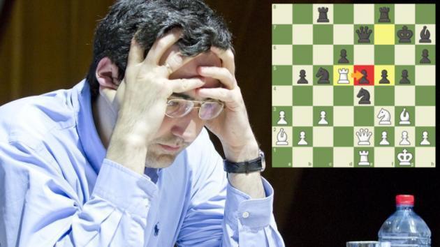 Kramnik gagne avec un magnifique sacrifice de tour à Shamkir