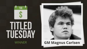 Magnus Carlsen dominiert das Titled Tuesday Turnier's Thumbnail