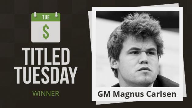 Magnus Carlsen domina el Martes Titulado de mayo