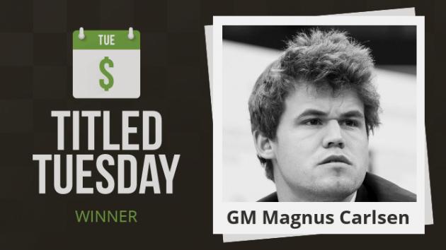 Magnus Carlsen dominerte mai-utgaven av Titled Tuesday