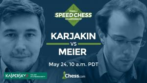 Speed Chess Championship Resumes With Karjakin vs Meier's Thumbnail