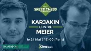 Le Speed Chess Championship reprend avec le match Karjakin Meier's Thumbnail