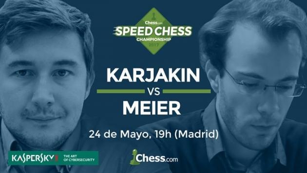 Vuelve el campeonato Speed Chess con Kariákin vs Meier