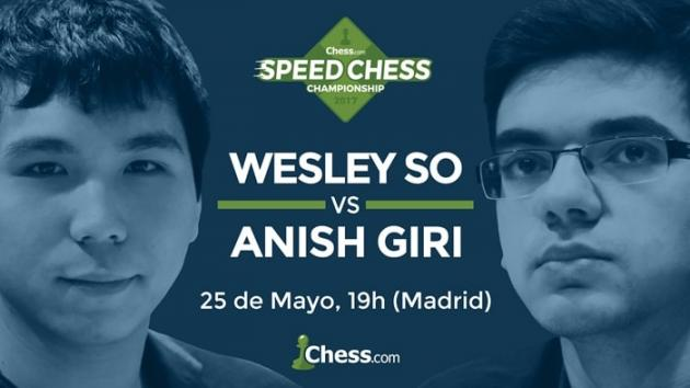 Giri y So se enfrentan hoy en el match del Speed Chess