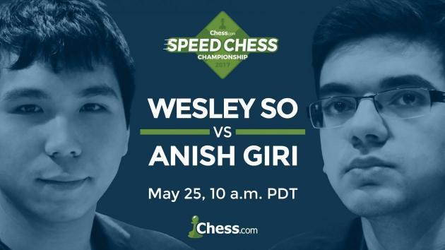 Speedschach Meisterschaft: Wesley So gegen Giri am Donnerstag