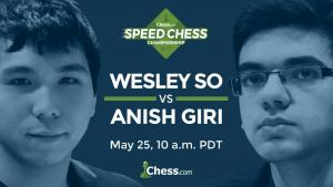 Giri e So Se embatem Quinta-feira no Speed Chess Match