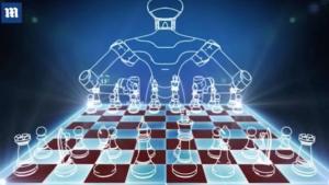 Miniatura de Robot que juega al ajedrez; DEP Kupreichik y Tatai