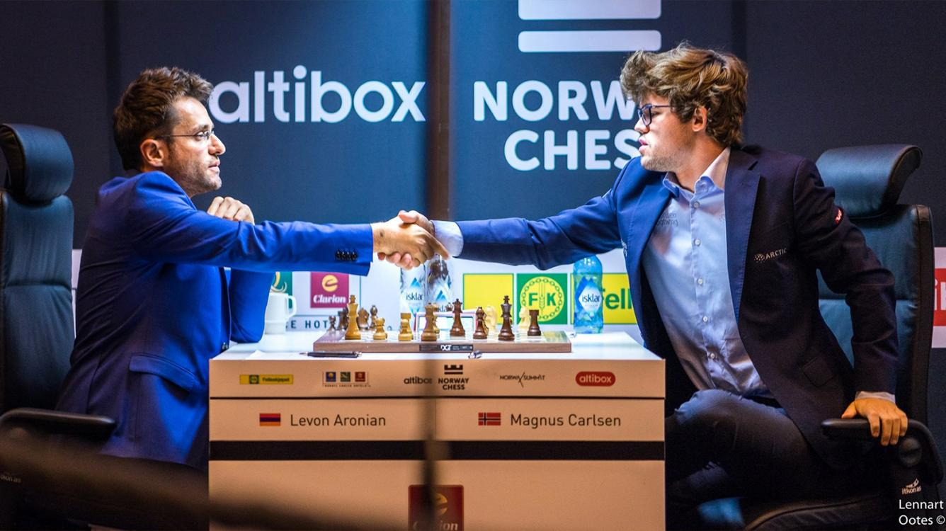 Aronian Beats Carlsen In Dazzling 4th Round Norway Chess