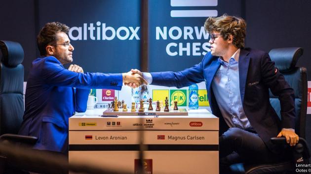 Аронян побеждает Карлсена в ослепительном 4-м туре Norway Chess