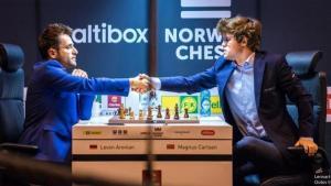 Miniatura de Aronián vence a Carlsen en la deslumbrante 4ª ronda del Norway Chess