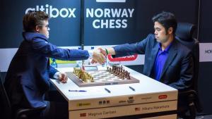 Carlsen-Nakamura, pojedynek dwóch wielkich rywali na remis w Norway Chess's miniatury