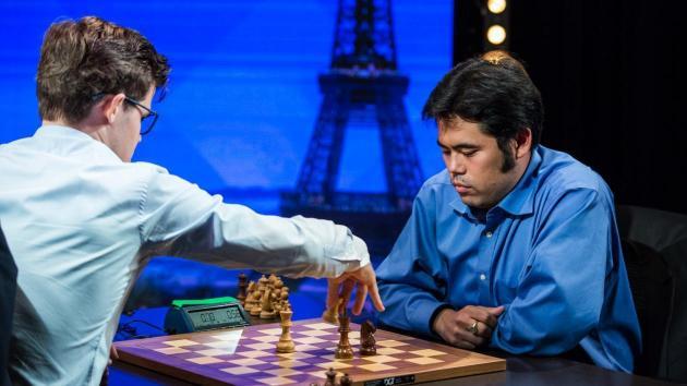 Carlsen leder ennå i Paris, Hikaru Nakamura like bak