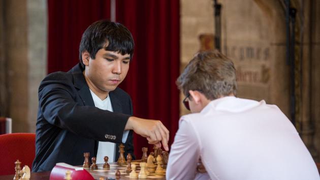 So slo Carlsen og leder i Leuven