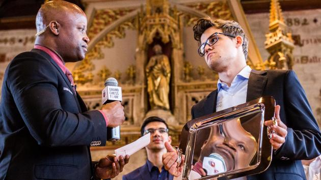 Carlsen brilla y gana el Grand Chess Tour de Leuven