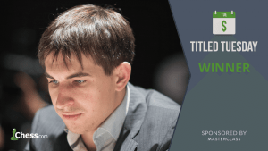 Dmitry Andreikin Snags 5th Masterclass Titled Tuesday Victory