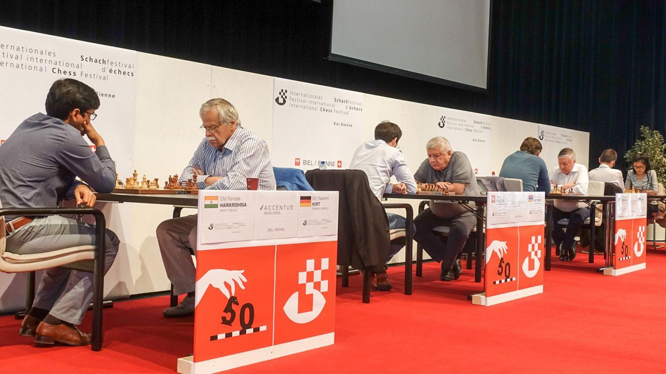 Hort, Karpov, Vaganian In Action At 50th Biel Festival