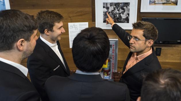 Aronian usa el análisis de Nepómniachtchi contra él en la Copa Sinquefield