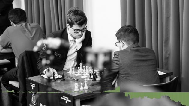 Карлсен ошибается в выигранной позиции и проигрывает Максиму Вашье-Лаграву