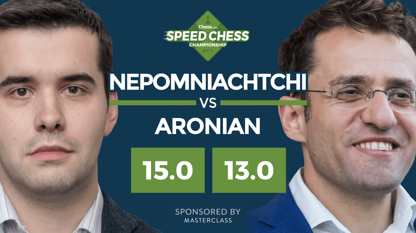 Nepomniachtchi Tops Aronian  In Nail-Biter Speed Chess