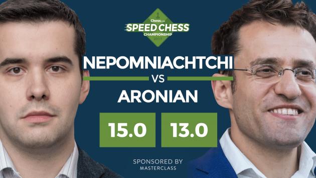 Непомнящий побеждает Ароняна в захватывающем матче Speed Chess