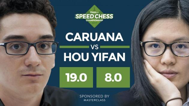Caruana Bate Hou Yifan em uma Forte Demonstração na Chess Champs