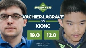 Maxime élimine Xiong du Speed Chess Championship