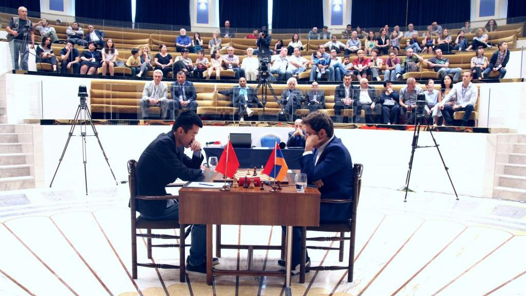Aronian Can't Crack Ding In World Cup Finals Game 1
