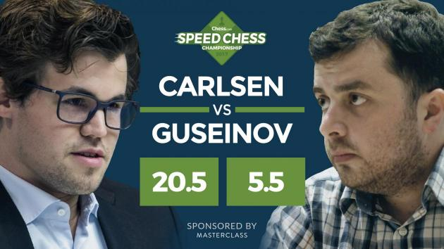 Carlsen knuste Guseinov i Speed Chess-matchen, men var misfornøyd