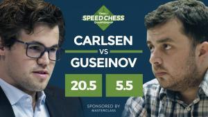 Fotos miniaturas de Carlsen Esmaga Guseinov no Speed Chess, Quer Fazer 'Melhor'