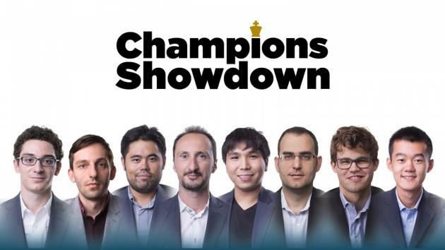 Carlsen-Ding Among Champions Showdown Matches