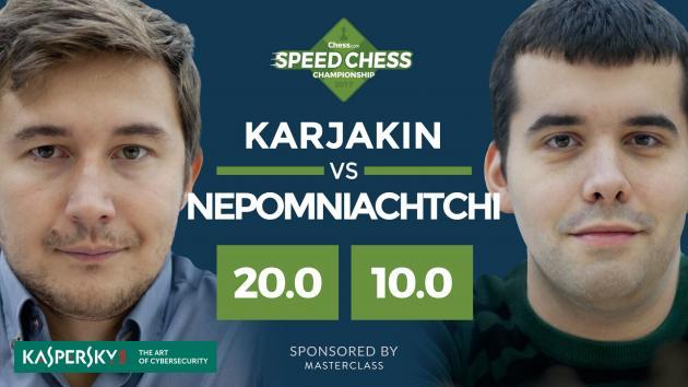 Karjakin arrasa a Nepo en los 1/4 de final del Speed Chess