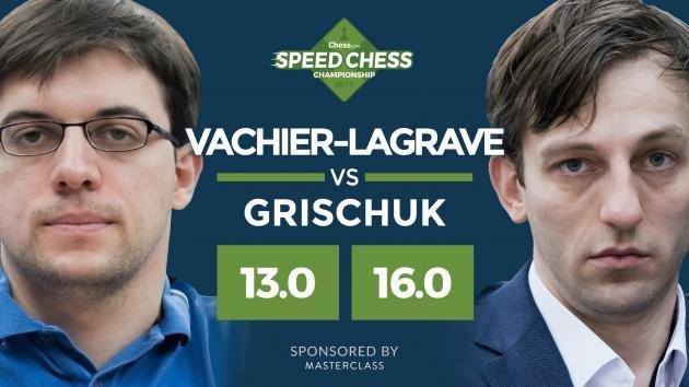 Grischuk eliminuje MVL ze Speed Chess