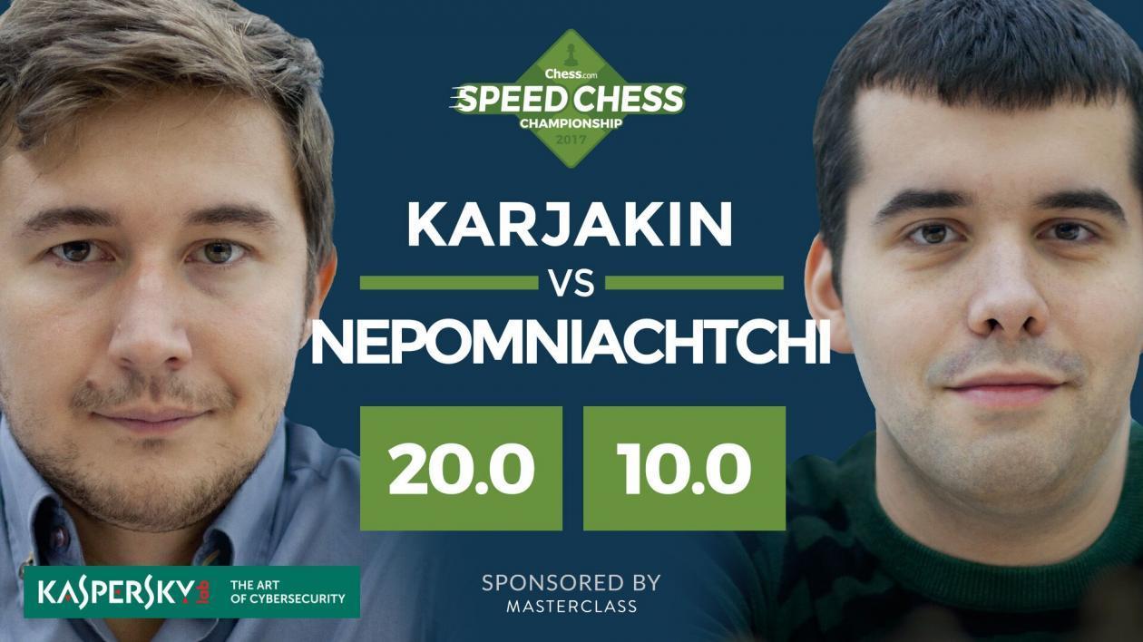 Karjakin Faz Música e Nepo É Incinerado nas Quartas de Final do Speed Chess
