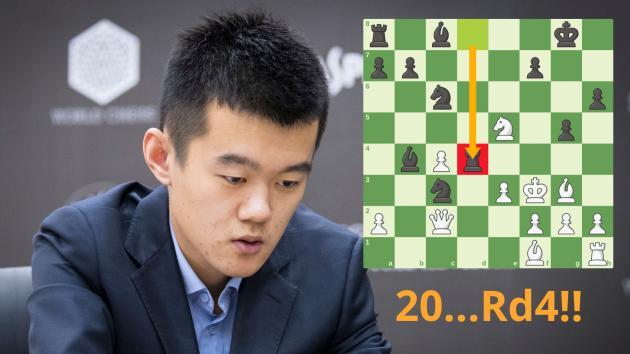 ¿Jugó Ding Liren la mejor partida de ajedrez del 2017?