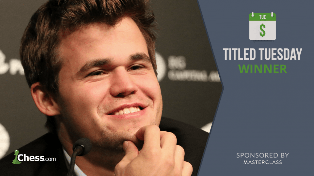 Magnus Carlsen Wins Titled Tuesday By Full Point
