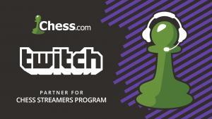 Иконка Twitch и Chess.com объединяются для поддержки шахматного онлайн-вещания