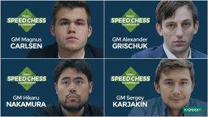 Carlsen, Grischuk, Nakamura y Karjakin semifinalistas del Speed Chess's Thumbnail