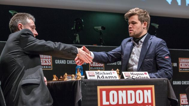 Another Escape Gets Carlsen First Win In London