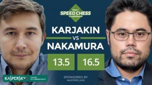 Nakamura Bate Karjakin, Joga Carlsen na Final do Speed Chess's Thumbnail