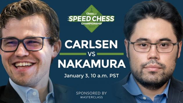 World Chess Champion Magnus Carlsen Faces Nakamura For Chess.com Speed Chess Championship