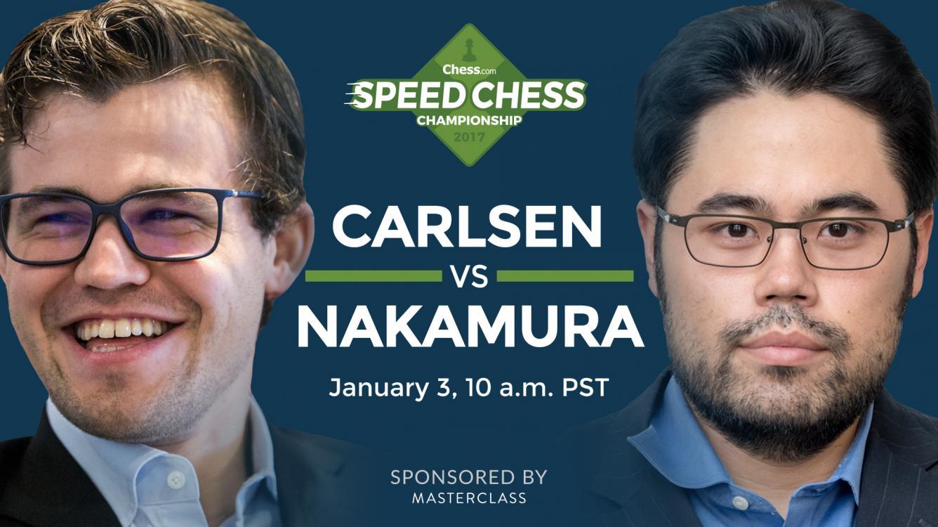 World Chess Champion Magnus Carlsen Faces Nakamura For Chess.com Speed Chess Championship