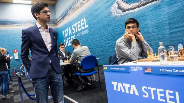Anand Wins With Flair, Joins Giri In Lead