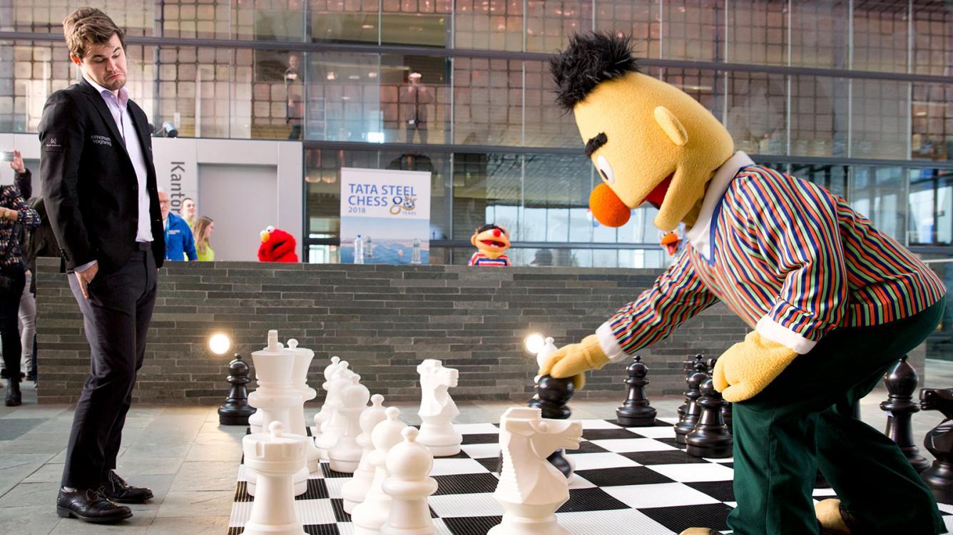 Mamedyarov Surges As Tata Steel Goes Sesame Street